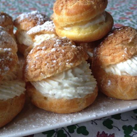 Choux Puff, Vanilla Whipped Cream – Cooking with Corinne