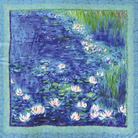 Giverny Water Lilies silk Scarf