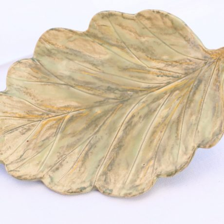 Leaf-shaped porcelain Cheese Plate