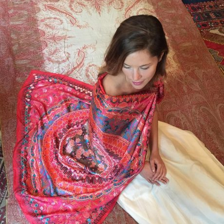 Samarkand red:coral scarf Lady