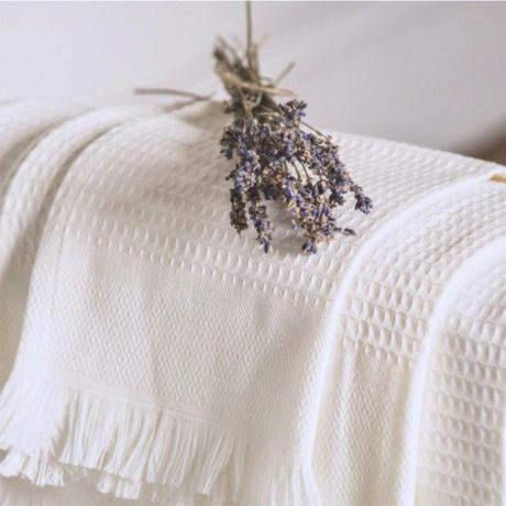 Waffle French cotton Towels