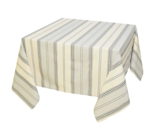Mazamet Grey strapped Tablecloth