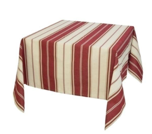 Mazamet Red-strapped Tablecloth