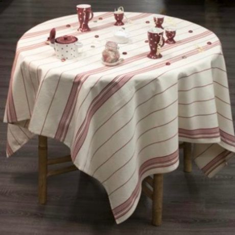 Mazamet Tablecloth strapped Red