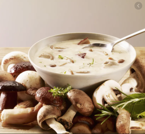 Mushrooms Capuccino-style Soup / Cooking with Corinne